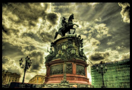 On a Black Horse Thru Hell HDR by ISIK5
