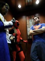 Even Superheroes have to take the elevator by Starkiller-Cosplay