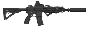 HK416 Black camo by Ghost17XD