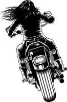 Biker chick back by rawclips