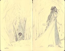 Beren and Luthien concept sketch by bozac