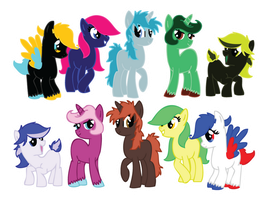 MLP Adopts - All Open - by KaurauTheFox