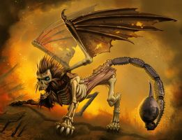 Zombie Manticore by MichaelJaecks