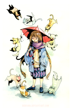 Rain Cats and Dogs by redsama