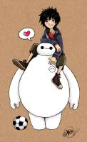 Baymax and Hiro by mlatimerridley
