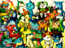 All Starters Pokemon 2 Stage by The3Brawlers2014