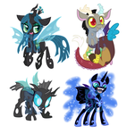 Villain Shrinkies by BaldDumboRat