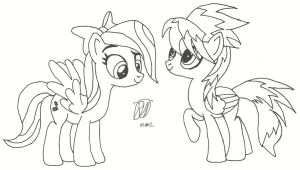 Flitter and Cloudchaser by Ratchet-Wrench