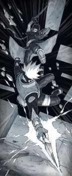 Kakashi/Obito - Everything falls apart by KejaBlank