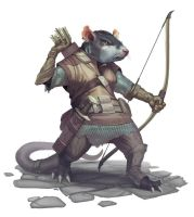 Ratfolk Tower Captain by YngvarAsplund