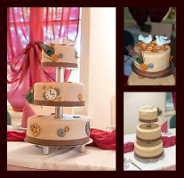Steampunk wedding cake decoration by Fledim