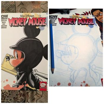 Mickey Mouse blank cover by trunks24
