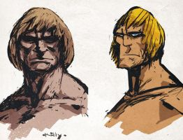 quick He-man sketches by TimKelly