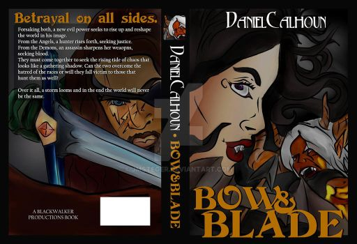 Illustrated fantasy Cover design Bow And Blade by JmSteger