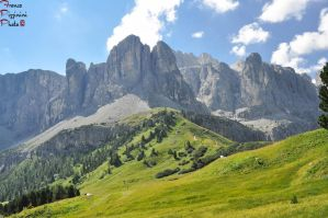Sella Group from Passo Gardena by lailalta