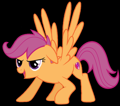 Scootaloo Grown Up (MLP) by WillyGilligan
