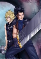 Final Fantasy-Zack + Cloud by syren007