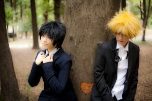 Shizuo x Izaya cosplay from Durarara 1 by altugisler