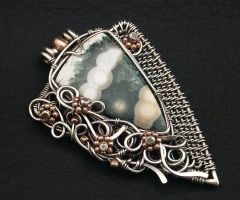 Ocean Jasper Dress Clip by WiredElements