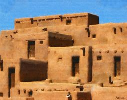 Taos Pueblo New Mexico by DonsDigitalCreations