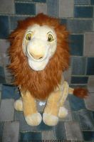 Adult Simba plush 2011 by ZiraLovesScar