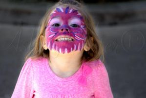 Painted child face by ashleybaxter