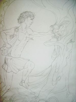Apollo and Daphne Sketch