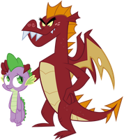 Garble and Spike by RainbowDerp98