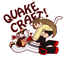 Timmi and Sea Play Quake! [Speedpaint] by Timmingt0n