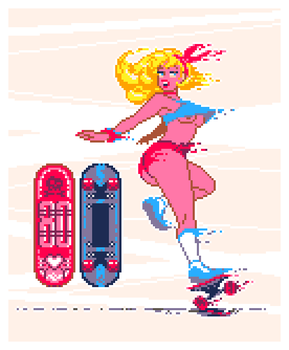 Scateboard Pixel Dailies by TRUEvector