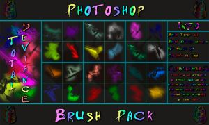 Total Deviance Brushes [Photoshop Brush Set] by triple7photography