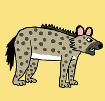 new hyena character by Accordiankat