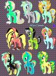 First Set of Shipping Foals ~ DiscordxLightning by Miss-Catstacks