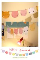 Kitten Garland by perfectnoseclub