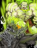 Broly vs Doomsday by Brycemaster