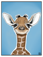 Little Giraffe by ArtofJefferyHebert