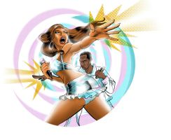 Beyonce Super-star by Marcelo-Baez