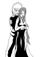SPOILER-KUSHINA AND MINATO by mdkex