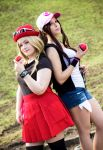 Serena and Hilda Cosplay by EllyChanCosplay