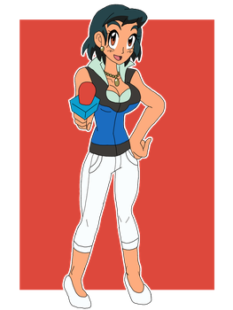 Trainer Ashley Reporter by SoraWolf7