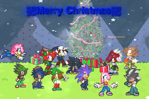 Fcs: Chrsitmas Poster! : D by FlamingInfernoX