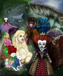 Alice in wonderland by Desaturateful
