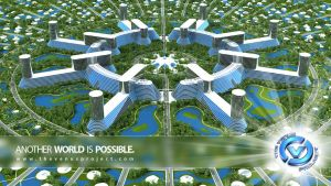 The Venus Project Circular City by carbonism