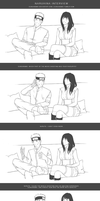 Behind the scene 3 - NaruHina interview - lineart by eunsangmo