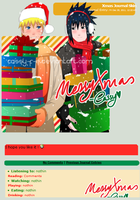 Naruto and Sasuke Xmas Journal Skin by Cassy-F-E