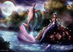 Deva - Iara and Pink Dolphin by Glluengo