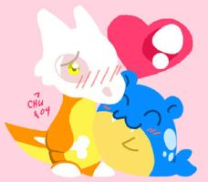 Suspi and Spheal by raizy