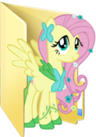 Fluttershy gala icon folder  by Julunis14