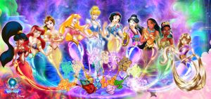 Disney harem of wonders by hachimitsu-ink