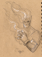 FireBall quick sketch by RyanJampole